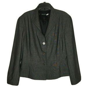 Lafayette 148 Womens GrayTweed Wool/Silk Blazer